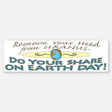 Funny Earth Day Uranus Bumper Bumper Bumper Sticker