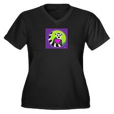 lemur Women's Plus Size V-Neck Dark T-Shirt