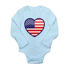 The Heart of the USofA Long Sleeve Infant Bodysuit