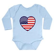 The Heart of the USofA Onesie Romper Suit