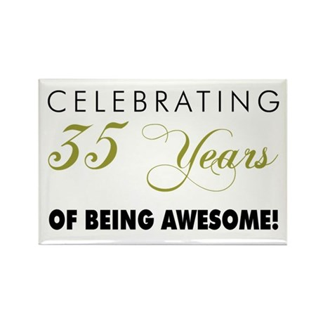 Celebrating 35 Years Rectangle Magnet