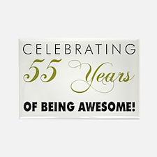 Celebrating 55 Years Rectangle Magnet