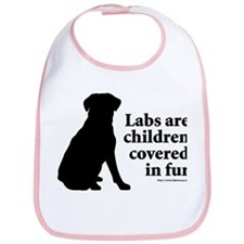 Lab are Fur Children Bib