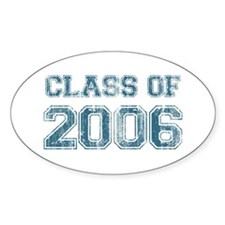 Class of 2006 (blue) Oval Decal