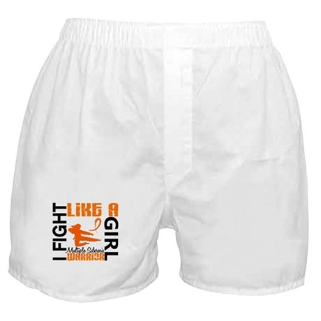 Fight Like A Girl Multiple Sclerosis Boxer Shorts