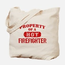 Property of a Hot Firefighter Tote Bag