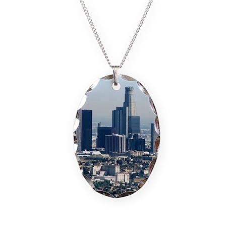 Helaine's LA Skyline Necklace Oval Charm