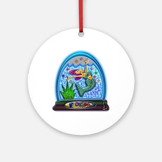 Mermaid Florida Souvenir Ornament (Round)