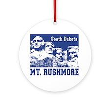 Mt. Rushmore South Dakota Ornament (Round)
