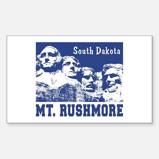 Mt. Rushmore South Dakota Rectangle Decal