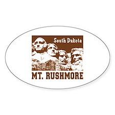 Mt. Rushmore South Dakota Oval Decal
