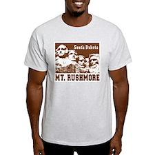 Mt. Rushmore South Dakota Ash Grey T-Shirt