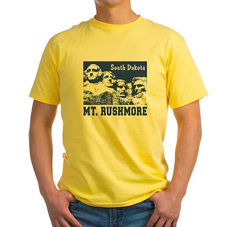 Mt. Rushmore South Dakota Yellow T-Shirt