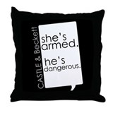 Castle &apm; Beckett Throw Pillow