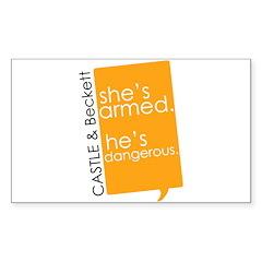 Castle Sticker (Rectangle 10 pk)