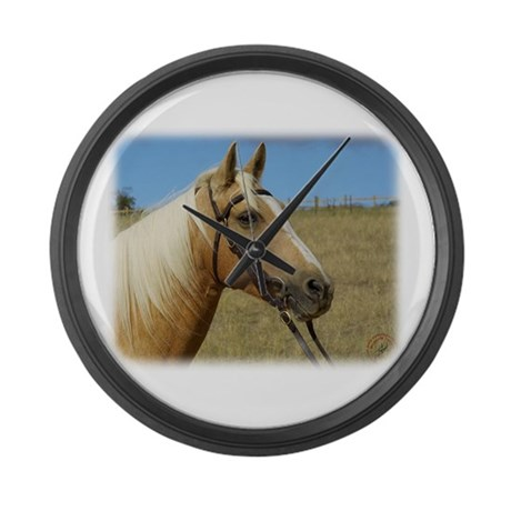 Palomino Horse 9R015D-184 Large Wall Clock