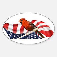USA Cardinal Sticker (Oval)