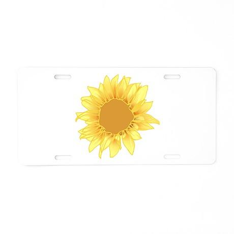 Elegant Sunflower Aluminum License Plate
