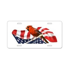 USA Cardinal Aluminum License Plate
