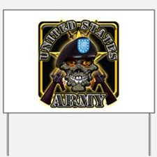 US ARMY Skull Star Yard Sign