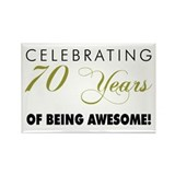 70 birthday magnets Single