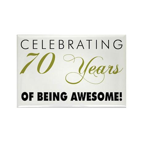 Celebrating 70 Years Rectangle Magnet