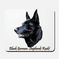 Black German Shepherds Rock Mousepad