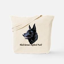 Black German Shepherds Rock Tote Bag