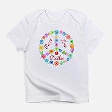 Peace Love Poodles Infant T-Shirt