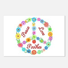 Peace Love Poodles Postcards (Package of 8)
