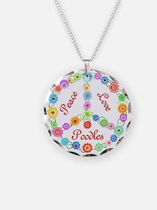 Peace Love Poodles Necklace