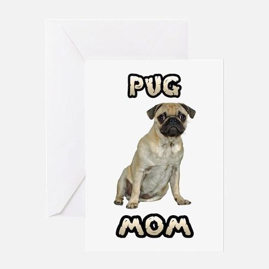 Pug Mom Greeting Card