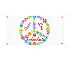 Peace Love Newfoundlands Banner