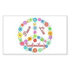 Peace Love Newfoundlands Bumper Stickers