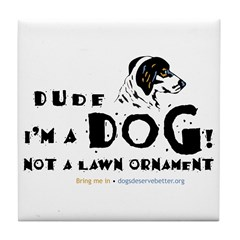 Dude: I'm a Dog! Not a Lawn O Tile Coaster