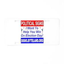Signs.Byteland.org Aluminum License Plate
