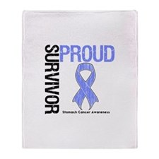 Proud Survivor Stomach Cancer Throw Blanket
