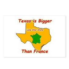 Texas is Bigger than France Postcards (Package of