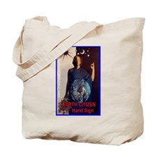 EARTH CITIZEN Hand Sign 4 US Tote Bag