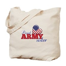 Proud Army Sister - Tote Bag