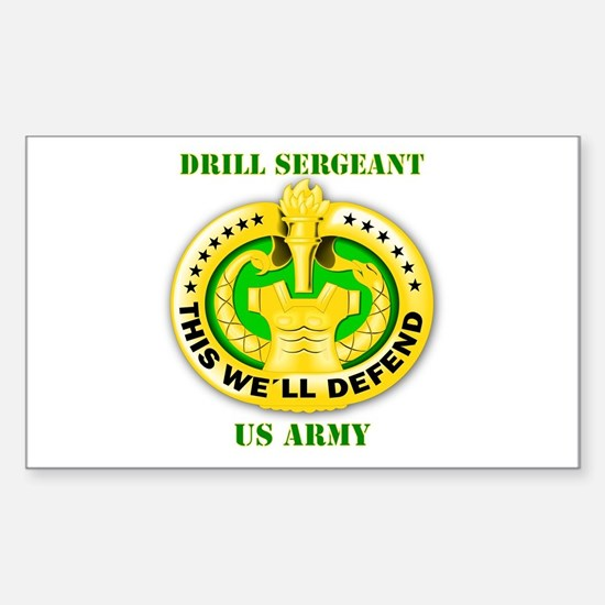Army - Emblem - Drill Sergeant Sticker (Rectangle)