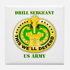 Army - Emblem - Drill Sergeant Tile Coaster