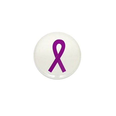 Purple Ribbon Mini Button (100 pack)