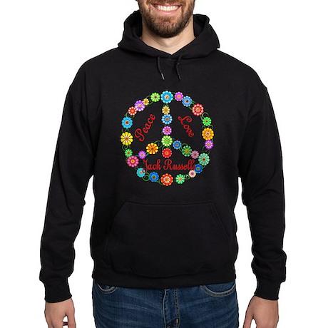 Peace Love Jack Russells Hoodie (dark)