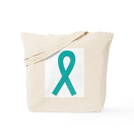 Teal Ribbon Tote Bag