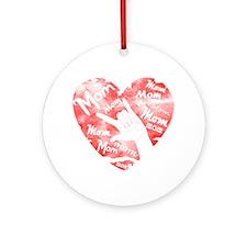 LOVE MY MOM - ASL Ornament (Round)