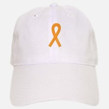 Orange Ribbon Baseball Baseball Cap