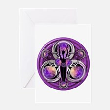 Goddess of the Purple Moon Greeting Card