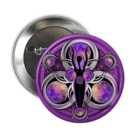 "Goddess of the Purple Moon 2.25"" Button (100"