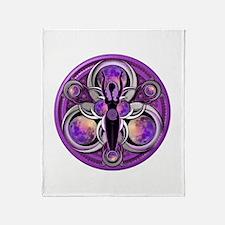 Goddess of the Purple Moon Throw Blanket
